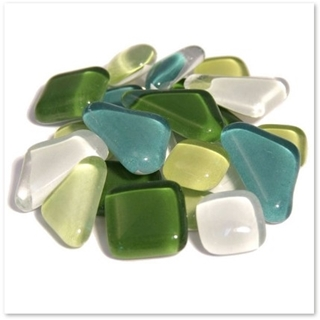 Soft Glass Poly Groen Mix