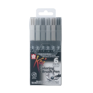 Koi Color Brush Grey Set (grijs)