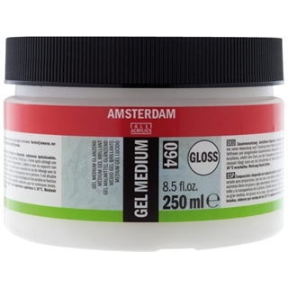 gel medium glanzend 250 ml