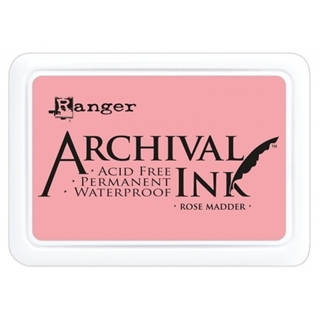 Archival ink pad rose madder