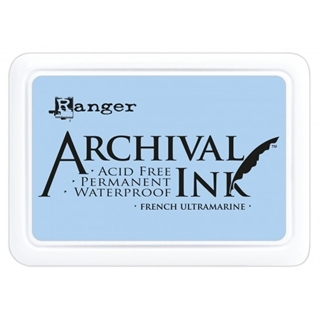 Archival ink pad french ultramarine