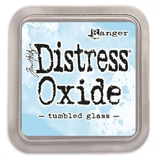 Tim Holtz distress oxide tumbled glass