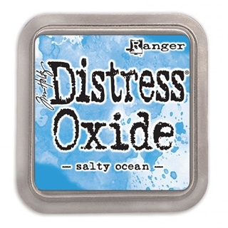 Tim Holtz distress oxide salty ocean