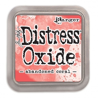 Tim Holtz distress oxide abandoned coral