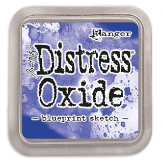 Tim Holtz distress oxide blueprint sketch