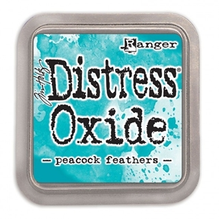 Tim Holtz distress oxide peacock feathers
