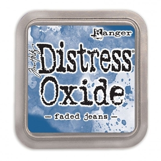 Tim Holtz distress oxide faded jeans
