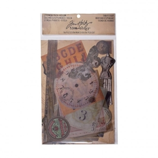 Tim Holtz ephemera pack vellum thrift shop