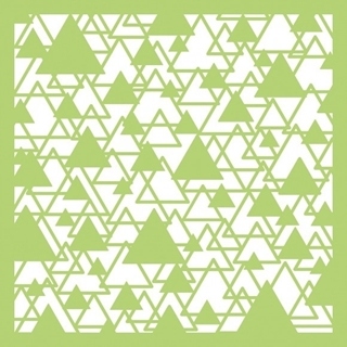 "Kaisercraft designer template 6x6"" abstract triang"