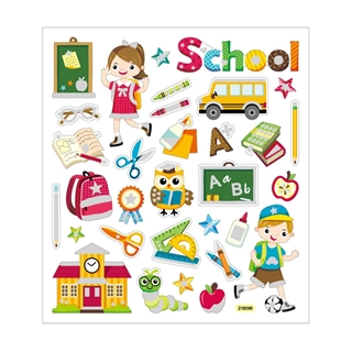 Stickers Sheet 15 x 16.5 cm School