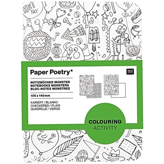 Paper Poetry Notebooks Monsters 105x140mm
