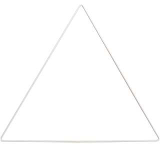 metal ring triangle white