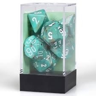 Dice Set Marb Oxi-Copper with White