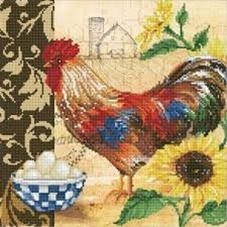 Country Rooster 41x41cm