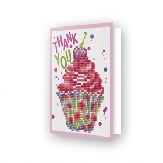 Diamond Dotz - Greeting Card CUP CAKE THANK YOU