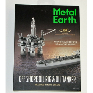 Metal Earth Offshore Oil Rig and Tanker -Gift Box-