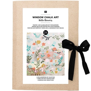 Window Chalk Art Patterns Hello Flowers