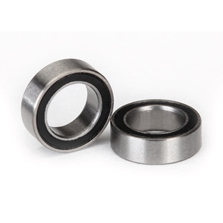Ball bearings, black rubber sealed (5x8x2.5mm) (2)