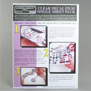 Inkjet Clear Decal Sheets 3st