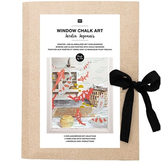 Window Chalk Art Japanse Tuinen