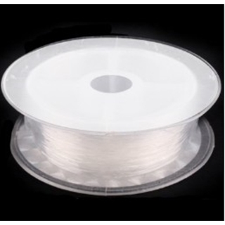 Elastische silicone draad 0.5mm clear