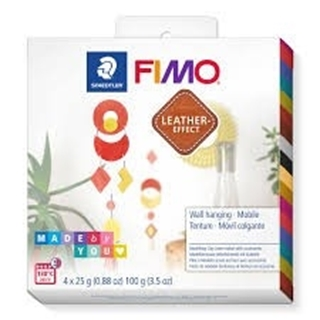 Fimo leather-effect DIY set - wall hanging