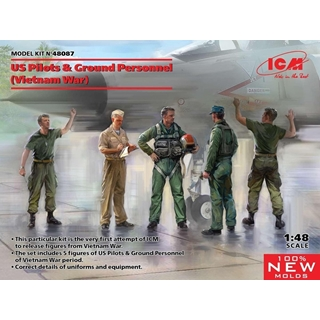 US Pilots & Ground personnel 1/48