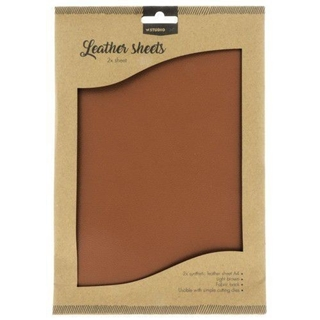 Fake Leather sheets Light Brown