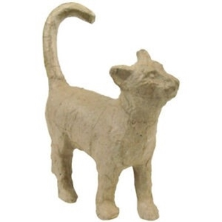 Stappende poes (decopatch) 12 cm