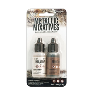 Tim Holtz Alcohol Inks - Mixatives Pearl & Copper
